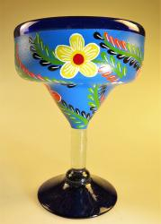 Mexican Margarita Glass 15oz Hand Painted POP BlueDesigns