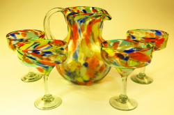 Mexican glass Confetti Margarita Matching Pitcher