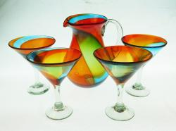 Mexican Martini Set Tricolor 80oz Pera Pitcher 4g