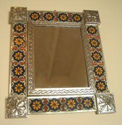 Mirror with Talavara tiles