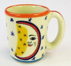 Mystical Moon and Stars handmade ceramic, pottery coffee mug