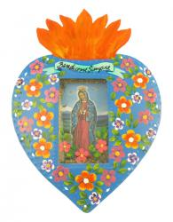 Niche Flaming Heart Our Lady of Guadalupe 11x9