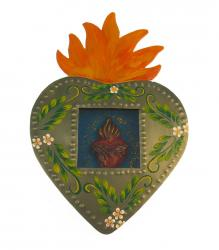 Niche Heart in Heart with Orange Flame 8x6