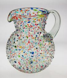 Mexican Bubble Glass Bumpy Confetti Pitcher