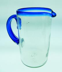 margarita juice pitcher blue rim made in Mexico