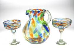 margarita glasses matching pitcher Mexico