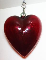 Red Heart Huge 16 inches Mexican Glass
