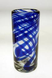 Shot Glass in Blue Swirl Design