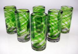 Shot glasses Green Swirl Mexico 6