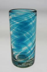 Shot Glass in Turquoise Swirl Design