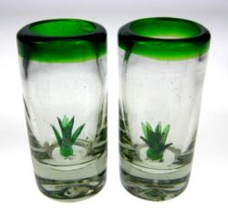 Mexican Shot Glasses Agave Cactus Tequila 2