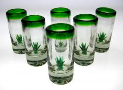 Mexican shot glass agave cactus tequila 6