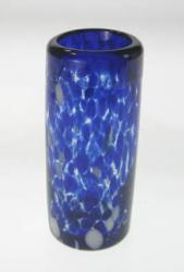 Shot Glass, Blue & White Confetti