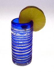 shot glass blue sprial Mexico