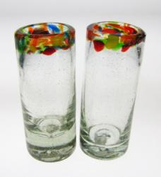 Shot Glasses, Confetti Rim, Set of 2