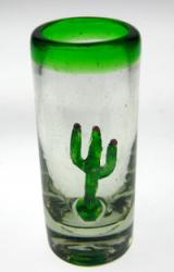 shot glass from Mexico Saguaro Cactus