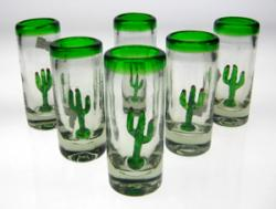 Shot glasses Mexican cactus agave saguaro