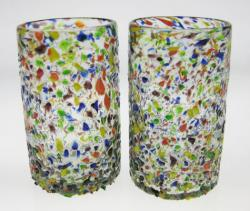 drinking glasses bumpy confetti Mexico 2