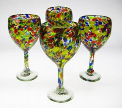 Confetti Wine Glasses, Set of Four