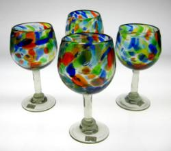 wine glasses confetti swirl Mexico 4