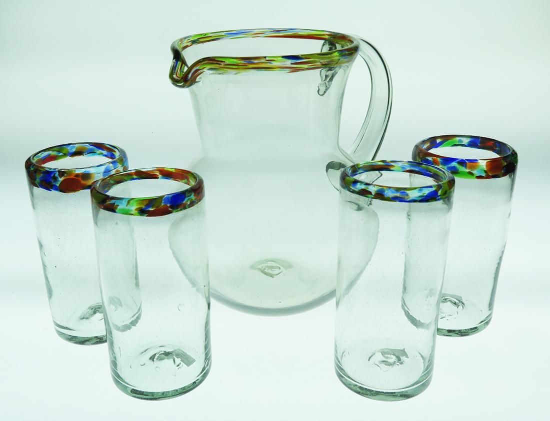 Drinking Glasses, Confetti Rim, 20oz, Set Of 4 Made In