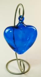 Blue Heart Large 6 inch with silver rack