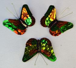 Tin Butterflies Three hand made in Mexico