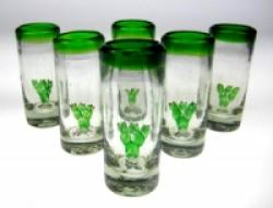 Prickly Pear shot glasses Made in Mexico