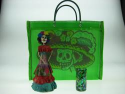Day of the Dead Gift Bag with Catrina and shot glass made in Mexico
