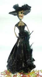 Mexican Catrina Widow Dressed in Black 15 inches tall