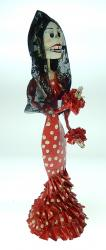 Catrina Bailarina 17 inches Red and white