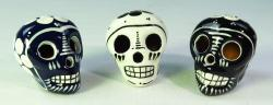 Day of the dead skulls Black and White set of 3