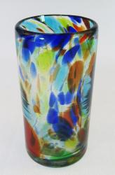 Mexican Blown Glass, Confetti Swirl, Juice 10oz