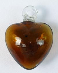 Amber Heart - Small 2 inches