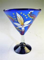 Mexican Glass, Margarita Martini POP Blue 15oz