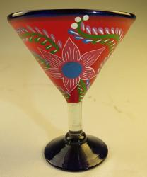 Mexican Glass, Margarita Martini POP Red 15oz