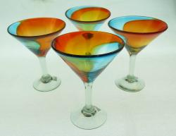 Margarita Martini Glasses 4g Tricolor 10oz