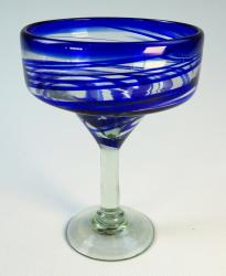 Magarita Glass, Blue Swirl from Mexico