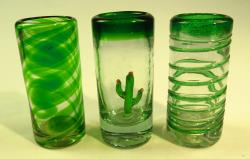 Three Brothers, tres hermanos, Mexican shot glasses
