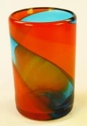 Mexican Glass Tumbler 16oz tricolor