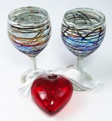 Wine chocolate swirls and 4 inch red heart