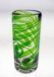 Shot Glass in Green Swirl Design