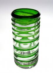 Shot Glass, Green Spiral Rim