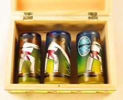 """Three Amigos"" Painted Pancho Mexican Shot glasses in Box"