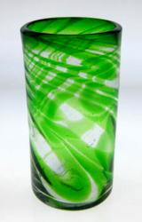 Green Swirl Drinking Glass, 20oz