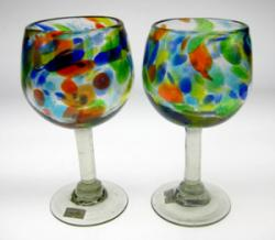 wine glasses confetti swirl Mexico 2