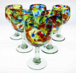 wine glasses confetti swirl Mexico 6